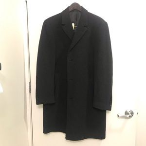 Calvin Klein Men's Wool Topcoat Size Large